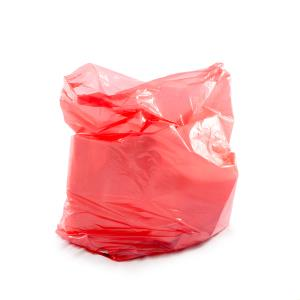 Red Soluble Strip Laundry Bag